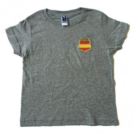 Camiseta infantil DIVISIÓN AZUL escudo bordado