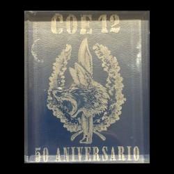 """Cristal grabado COE 12 """"50 aniversario"""""""