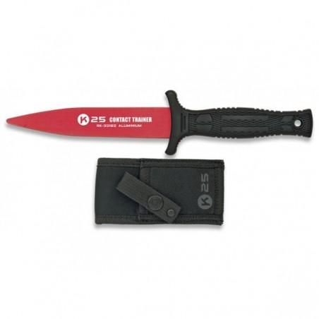 Cuchillo entrenamiento k25 aluminio rojo