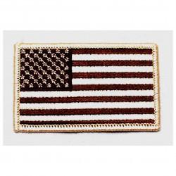 Parche bordado bandera EEUU arena