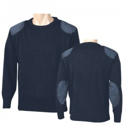 Jersey lana con refuerzos
